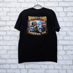 Harley Davidson Horny Toad Double Sided Texas Bike